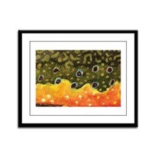 Brook Trout Fly Fishing Framed Panel Print