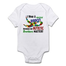 I Wear Puzzle Ribbon Brothers 33 Infant Bodysuit
