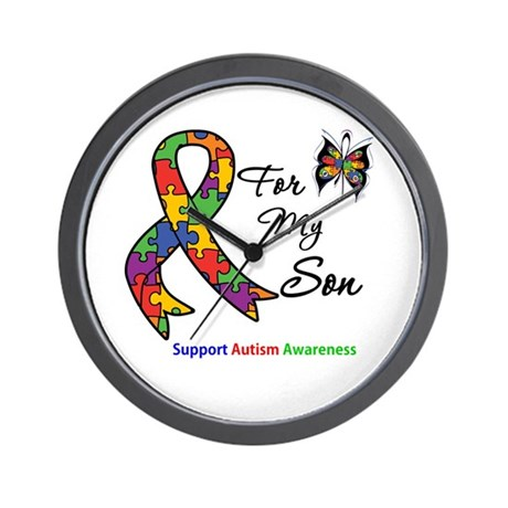 Autism Support Son Wall Clock
