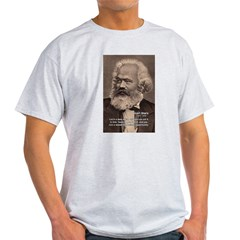 History Analyst Karl Marx Ash Grey T-Shirt