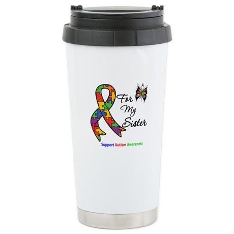 Autism Support Sister Ceramic Travel Mug