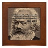 History Analyst Karl Marx Framed Tile