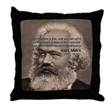 History Analyst Karl Marx Throw Pillow
