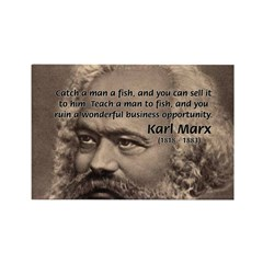 History Analyst Karl Marx Rectangle Magnet (100 pa