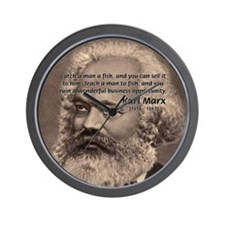 History Analyst Karl Marx Wall Clock