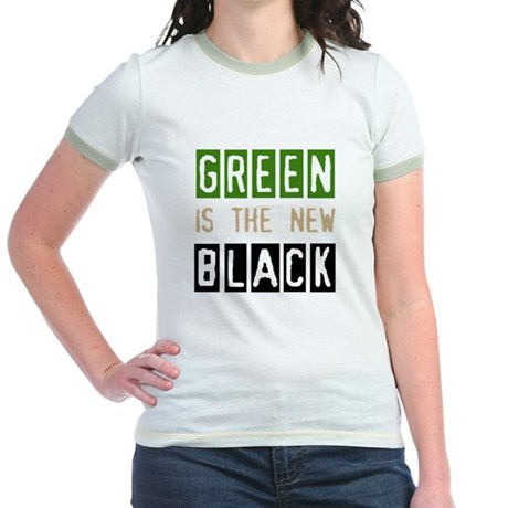 Green is the New Black Jr. Ringer T-Shirt