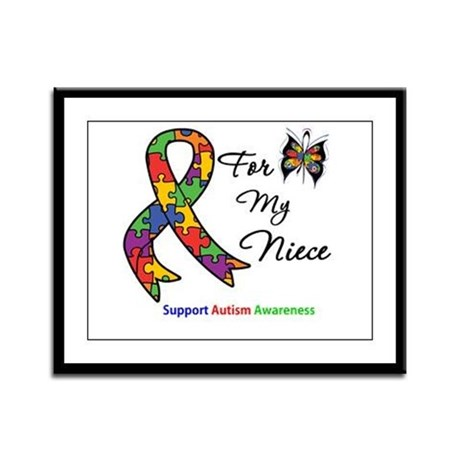 Autism Support Niece Framed Panel Print