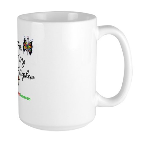 Autism Support Nephew Large Mug