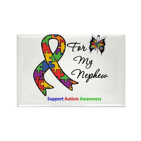 Autism Support Nephew Rectangle Magnet