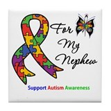 Autism Support Nephew Tile Coaster