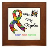 Autism Support Nephew Framed Tile