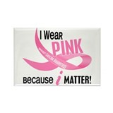 I Wear Pink For Myself 33.2 Rectangle Magnet