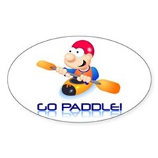 Go Paddle! Oval Stickers