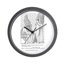 Daedalus and Icarus (Ovid) Wall Clock