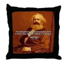 Power of Change Karl Marx Throw Pillow