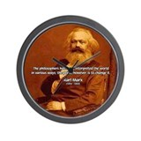 Power of Change Karl Marx Wall Clock