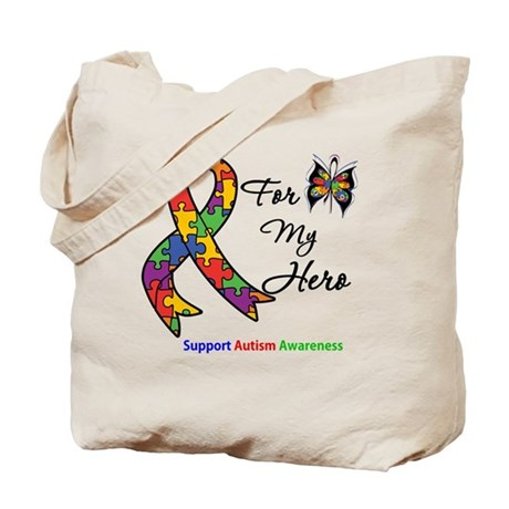Autism Support Hero Tote Bag