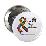 "Autism Support Grandson 2.25"" Button (100 pack)"