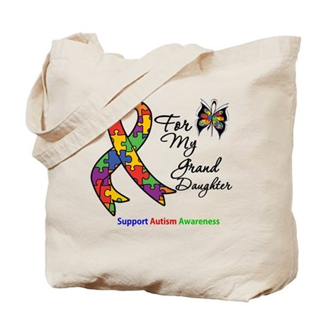 Autism Granddaughter Tote Bag