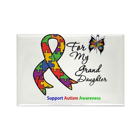 Autism Granddaughter Rectangle Magnet