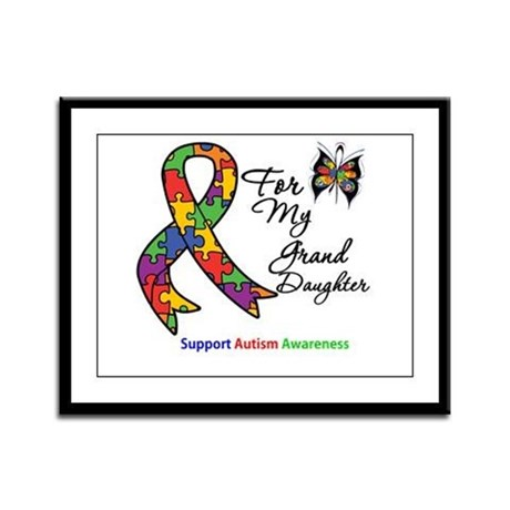 Autism Granddaughter Framed Panel Print