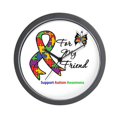 Autism Support Friend Wall Clock