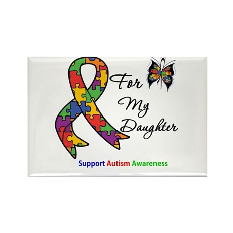Autism Support Daughter Rectangle Magnet