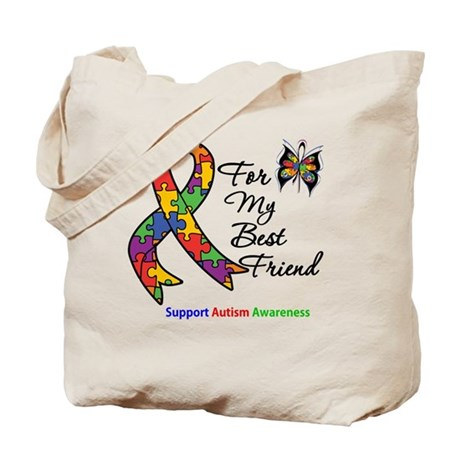 Autism Best Friend Tote Bag