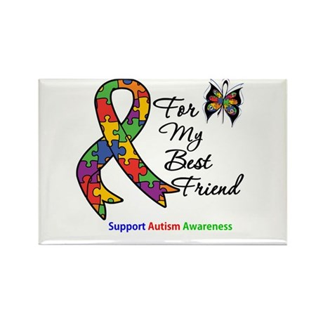 Autism Best Friend Rectangle Magnet