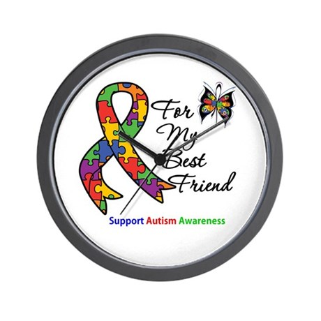 Autism Best Friend Wall Clock