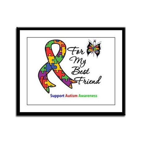 Autism Best Friend Framed Panel Print