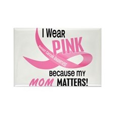 I Wear Pink For My Mom 33.2 Rectangle Magnet (10 p