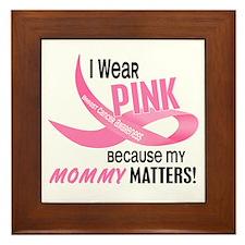 I Wear Pink For My Mommy 33.2 Framed Tile