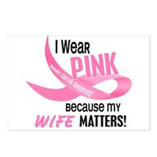 I Wear Pink For My Wife 33.2 Postcards (Package of
