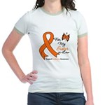 Leukemia Ribbon Sister-in-Law Jr. Ringer T-Shirt