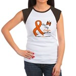 Leukemia Ribbon Sister-in-Law Women's Cap Sleeve T