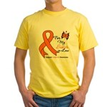 Leukemia Ribbon Sister-in-Law Yellow T-Shirt