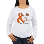 Leukemia Ribbon Sister-in-Law Women's Long Sleeve