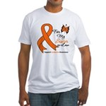 Leukemia Ribbon Sister-in-Law Fitted T-Shirt