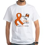 Leukemia Ribbon Sister-in-Law White T-Shirt