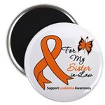 Leukemia Ribbon Sister-in-Law Magnet