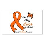 Leukemia Ribbon Sister-in-Law Rectangle Sticker 5