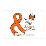 Leukemia Ribbon Sister-in-Law Postcards (Package o