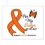 Leukemia Ribbon Sister-in-Law Small Poster