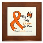 Leukemia Ribbon Sister-in-Law Framed Tile