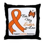 Leukemia Ribbon Sister-in-Law Throw Pillow