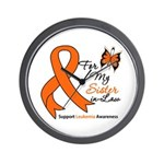 Leukemia Ribbon Sister-in-Law Wall Clock