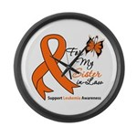Leukemia Ribbon Sister-in-Law Large Wall Clock