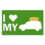 Element Lovers: I Heart My Toaster Bumper Stickers