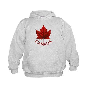 Kid's Canada Souvenir Sweatshirt Maple Leaf Hoodie